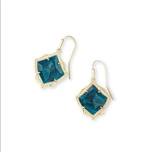 Kendra Scott Kyrie Aqua Apatite Earrings NWT